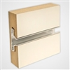 90144W - White Horizontal Slatwall Panels with Metal Inserts 4' x 8'