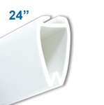 ATL-24 - 24 inch Atlas Banner and Poster Display Hanger - White Plastic
