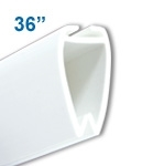 ATL-36 - 36 inch Atlas Banner and Poster Display Hanger - White Plastic