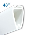 ATL-48 - 48 inch Atlas Banner and Poster Display Hanger - White Plastic