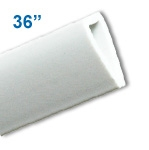 BBH-36W - 36 inch Budget Banner and Poster Hanger Display - White
