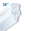 BH-36 - 36 inch Clamping-Style Banner and Poster Hanger in Clear Plastic
