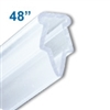 BH-48 - 48 inch Clamping-Style Banner and Poster Hanger in Clear Plastic
