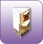 Tri-View Three Sided Clear Acrylic Literature and Sign Display 4 in. w x 6 in. h BL3-0406