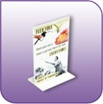 BLF-0406V - Double Sided Bottom Loading Clear Acrylic Sign Display and Literature Holder - 4 in. w x 6 in. h