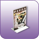 BLF-0507V - Double Sided Bottom Loading Clear Acrylic Sign Display and Literature Holder - 5 in. w x 7 in. h