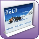 BLF-1411H - Double Sided Bottom Loading Clear Acrylic Horizontal Sign Display and Literature Holder - 14 in. w x 11 in. h