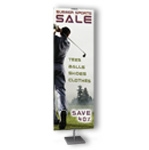 Freestanding Aluminum Sign Display and Banner Display Stand BST-3696-24B