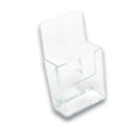 Acrylic Literature Holders Brochure Holder Clear Free-Standing  -  4 in. w x 7 in. h - EBH-4
