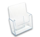 EBH-8 - Free-Standing Clear Acrylic Brochure and Literature Display Holder - 8-1/2 in. w x 9-1/2 in. h