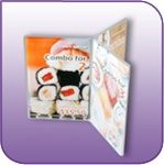 FR-0507 - Six-Sided Clear Acrylic Brochure and Literature Display - 5 in. w x 7 in. h