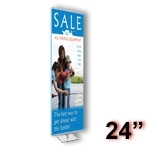 GS2-S - Gripgraphics Banner Display Stand - 24 inch - Silver