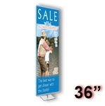 GS3-S - Gripgraphics Banner Display Stand - 36 inch - Silver