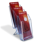 GZ-3 - 3 Tier Trifold Literature Holder with Base