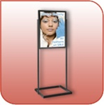 LF328-B - Poster Sign Stand - Black