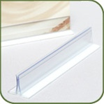 MI-6P - Card and Sign Holder for flat surfaces - 6 inch w/adhesive
