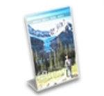SBF-0406V - Slant-Back Clear Acrylic Brochure and Literature Holder - 4-in. w x 6-in. h - Vertical