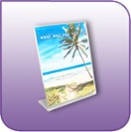 SBF-0507V - Slant-Back Clear Acrylic Vertical Brochure and Literature Holder - 5-in. w x 7-in. h