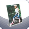 SBF-0912V - Slant-Back Clear Acrylic Literature and Brochure Holder - 9-in. w x 12-in.  - Vertical Layout
