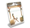 SBF-8511V - Slant-Back Clear Acrylic Sign and Literature Holder - 8-1/2-in. w x 11-in. h - Vertical Layout