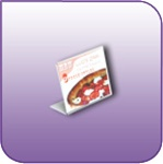 SBSH-5535 - Slant-Back Clear Plastic Budget Sign Holder - 5-1/2-in. w x 3-1/2-in. h