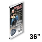 SN45-S - Silver - Snapgraphics Grippers - Rectangular Banner Hanger - 36 inch