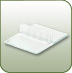 "TCH - 2-7/8"" Table Top Sign and Ticket Holder - Straight - 2-7/8-in. L"