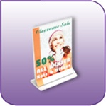 TLF-0406V - 4-inch Double-Sided Top Loading Literature and Brochure Holder in Clear Acrylic - 4-in. w x 6-in. h