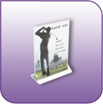 TLF-0507V - 5 inch Double-Sided Top Loading Literature and Brochure Holder in Clear Acrylic - 5-in. w x 7-in. h