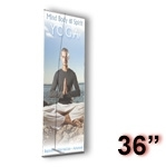 UB3-36 - Ultra UB Banner Display Stand - 36 inch - Single Sided
